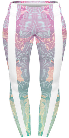 Luminous Leaves Active Plus Leggings-Wholesale Women's Leggings, Wholesale Plus Size , Wholesale Fashion Clothing