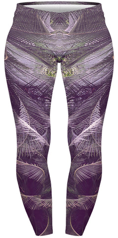 Swirling Palms Plus Leggings-Wholesale Women's Leggings, Wholesale Plus Size , Wholesale Fashion Clothing