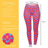 Retro Floral Bright Poppies Regular Leggings-Wholesale Women's Leggings, Wholesale Plus Size , Wholesale Fashion Clothing