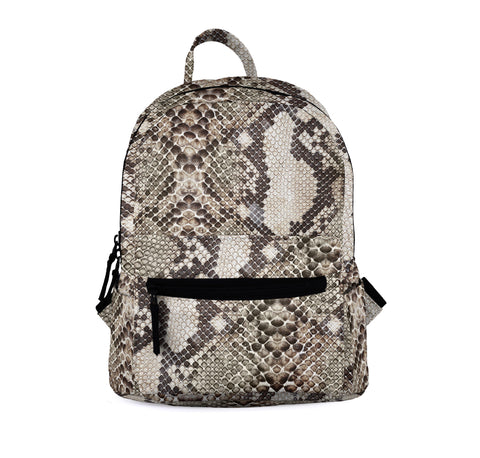 Snake Skin Classic Brown Mini Backpacks-Wholesale Women's Leggings, Wholesale Plus Size , Wholesale Fashion Clothing