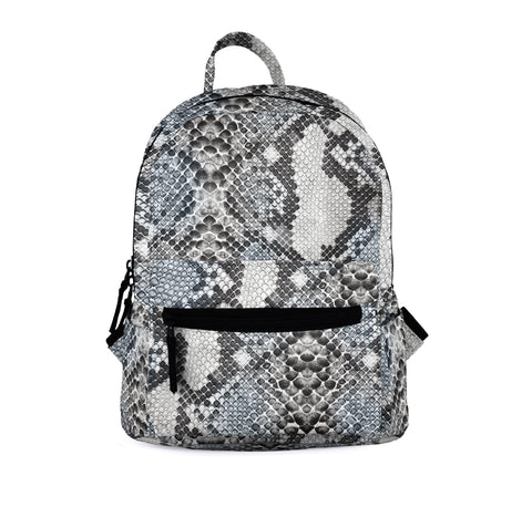 Snake Skin Classic Grey Mini Backpacks-Wholesale Women's Leggings, Wholesale Plus Size , Wholesale Fashion Clothing