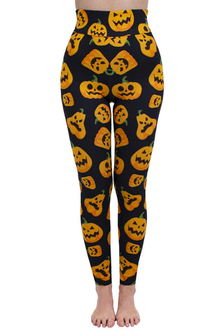 Jack O Lanterns High Waisted Leggings-Wholesale Women's Leggings, Wholesale Plus Size , Wholesale Fashion Clothing