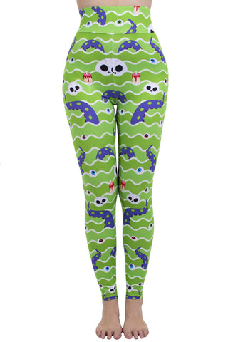 Swamp Monster High Waisted Leggings-Wholesale Women's Leggings, Wholesale Plus Size , Wholesale Fashion Clothing