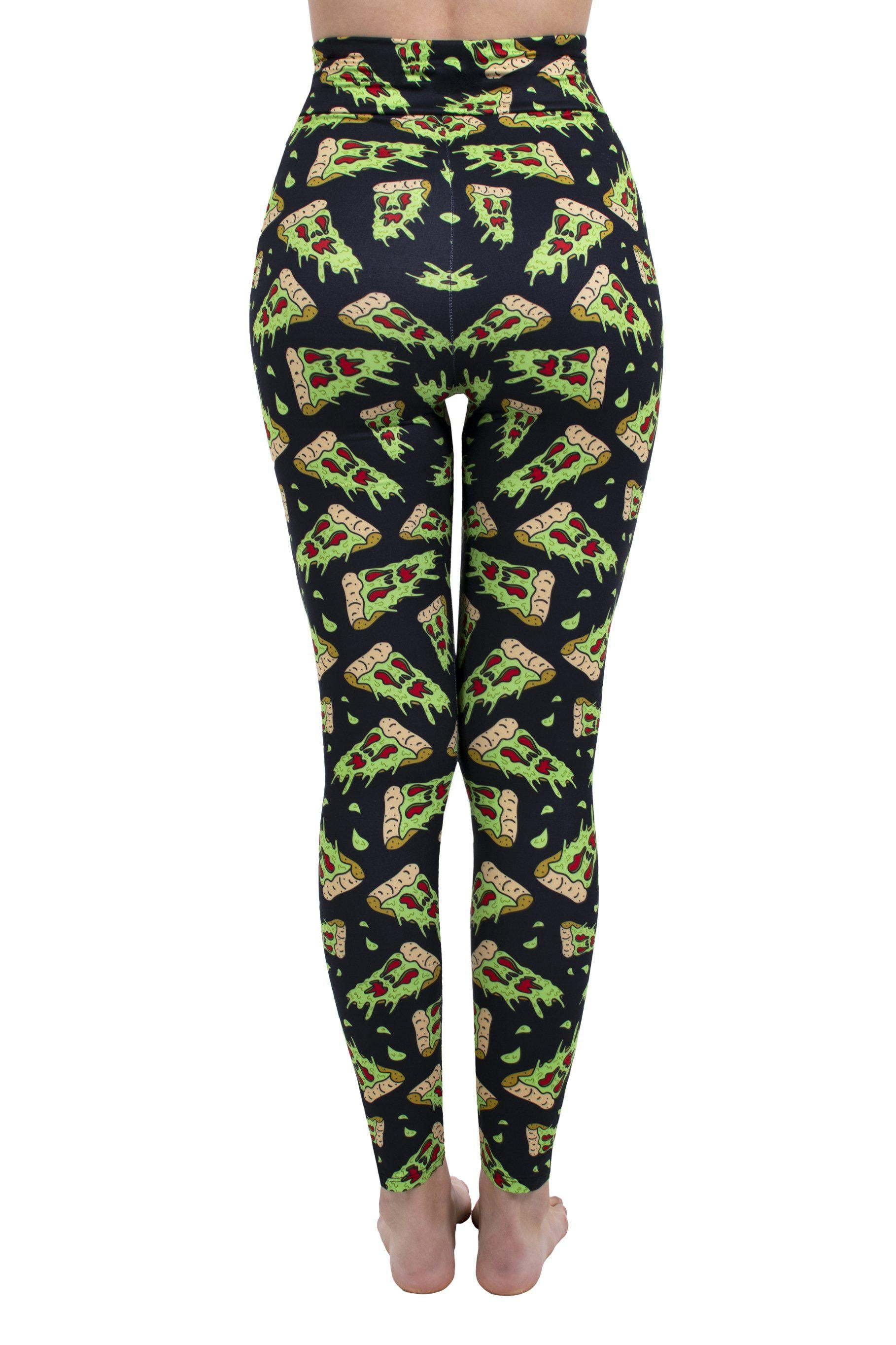 Spooky Pizza High Waisted Leggings
