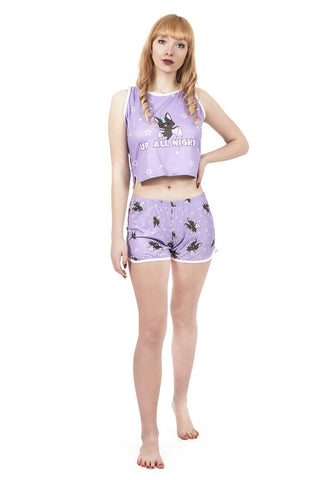 Baticorn Pyjama Shorts-Wholesale Leggings UK- Wholesale Women's Clothing- Kukubird Creative Studio