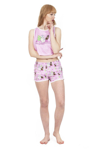 Llamacorn Pyjama Shorts-Wholesale Leggings UK- Wholesale Women's Clothing- Kukubird Creative Studio