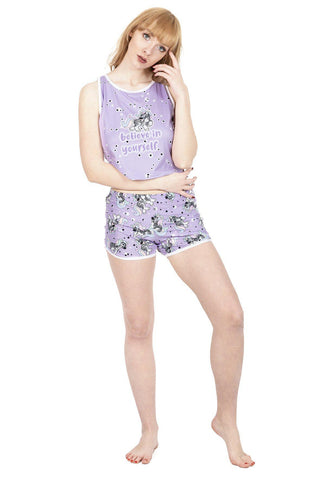 Zebracorn Pyjama Shorts-Wholesale Women's Leggings, Wholesale Plus Size , Wholesale Fashion Clothing