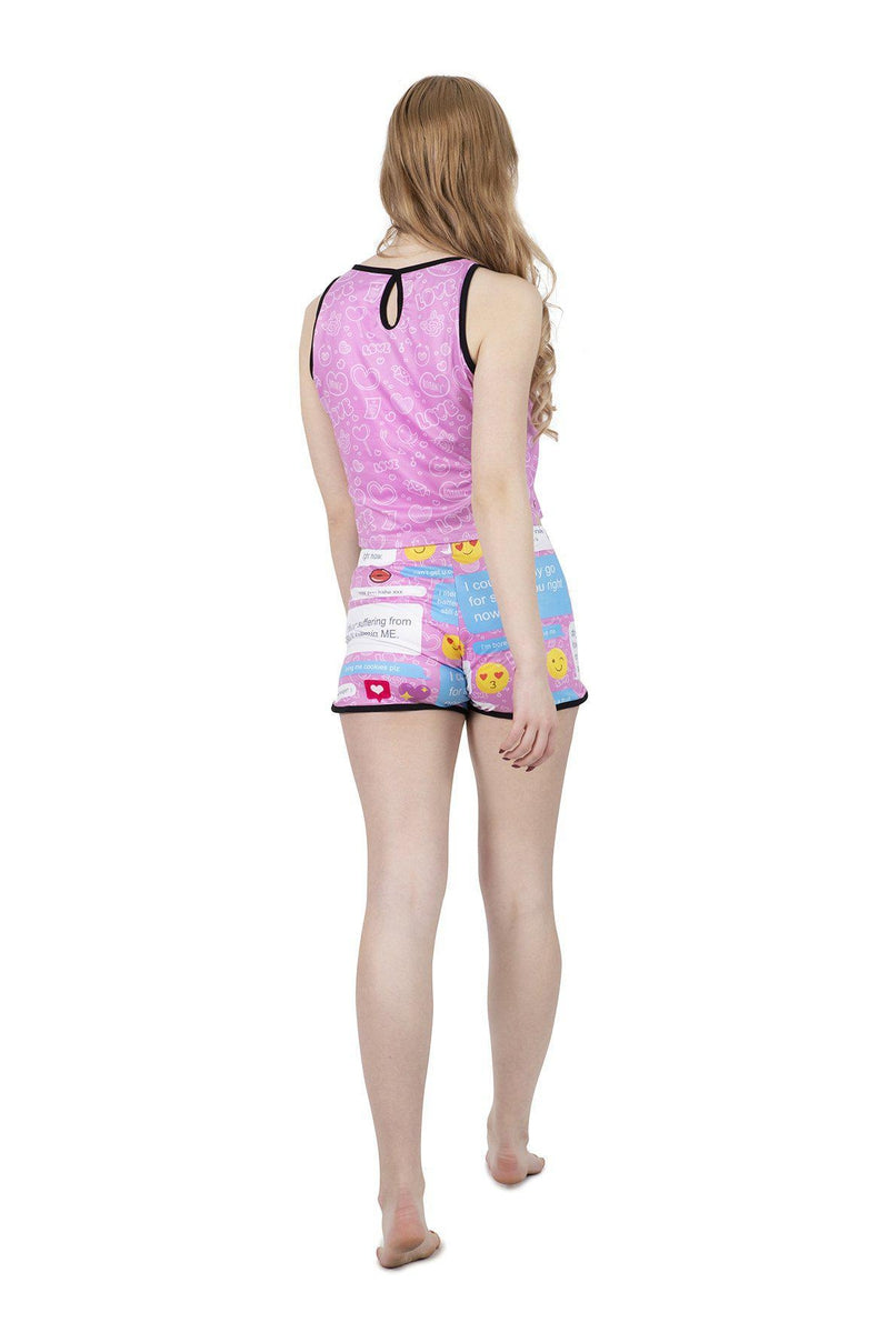 Flirty Messenger Pyjama Shorts