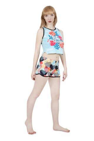 Be Mine Pyjama Shorts-Wholesale Leggings UK- Wholesale Women's Clothing- Kukubird Creative Studio