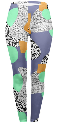 80s Dalmation Regular Leggings-Wholesale Women's Leggings, Wholesale Plus Size , Wholesale Fashion Clothing