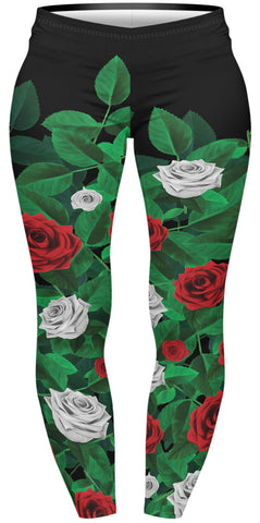 Paint the Roses Red Plus Leggings-Wholesale Women's Leggings, Wholesale Plus Size , Wholesale Fashion Clothing