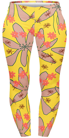 Large Flowers Plus Leggings-Wholesale Women's Leggings, Wholesale Plus Size , Wholesale Fashion Clothing