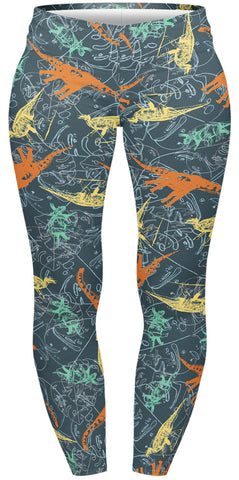 Friendly Dinosaurs Plus Leggings-Wholesale Women's Leggings, Wholesale Plus Size , Wholesale Fashion Clothing