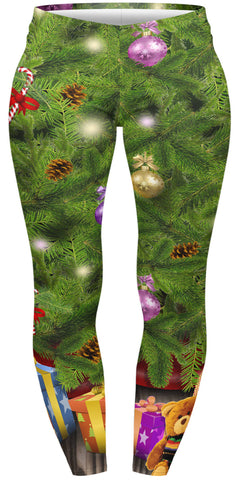 Tree and Gifts Plus Leggings-Wholesale Women's Leggings, Wholesale Plus Size , Wholesale Fashion Clothing