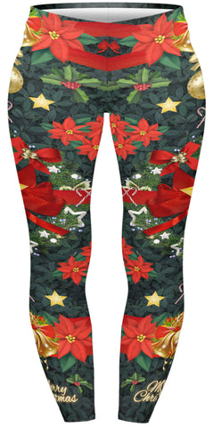 Wreath Love Plus Leggings-Wholesale Women's Leggings, Wholesale Plus Size , Wholesale Fashion Clothing