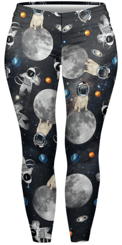 Astro Pug Plus Leggings-Wholesale Women's Leggings, Wholesale Plus Size , Wholesale Fashion Clothing