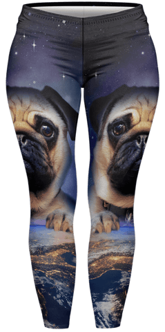 Pug On Earth Plus Leggings-Wholesale Women's Leggings, Wholesale Plus Size , Wholesale Fashion Clothing