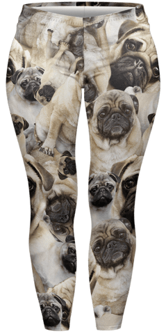 Pug Pile Plus Leggings-Wholesale Women's Leggings, Wholesale Plus Size , Wholesale Fashion Clothing