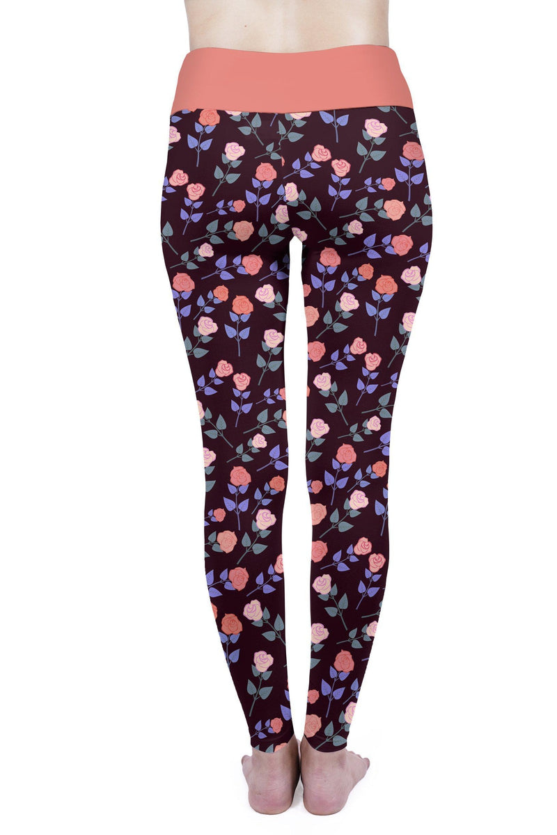 Dark Roses High Waisted Leggings-Wholesale Leggings UK- Wholesale Women's Clothing- Kukubird Creative Studio