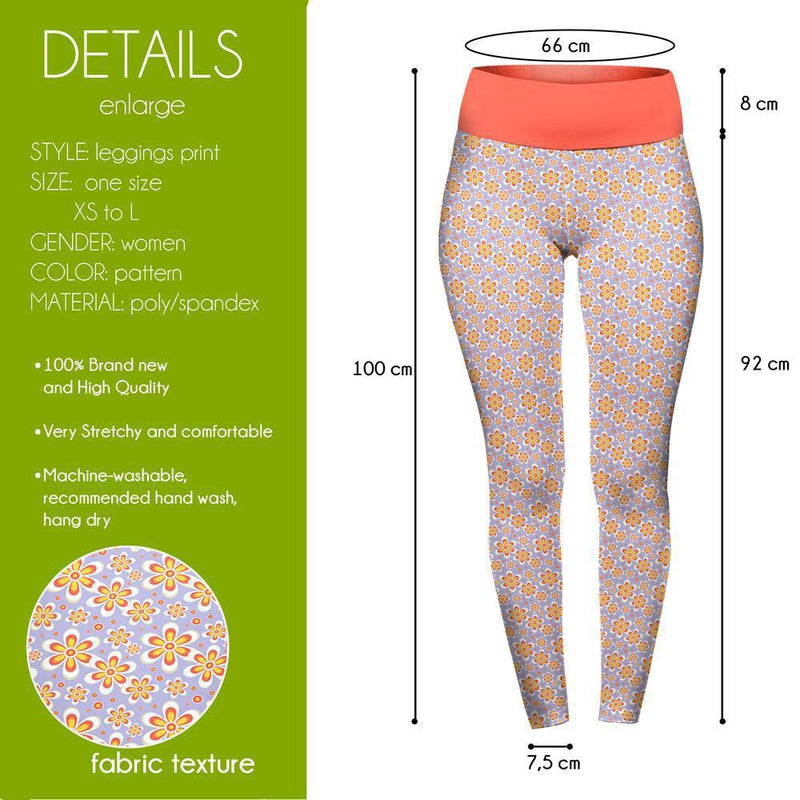 Lilac Daisies High Waisted Leggings-Wholesale Leggings UK- Wholesale Women's Clothing- Kukubird Creative Studio
