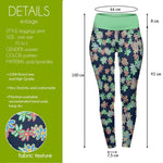 Crazy Daisies High Waisted Leggings-Wholesale Women's Leggings, Wholesale Plus Size , Wholesale Fashion Clothing
