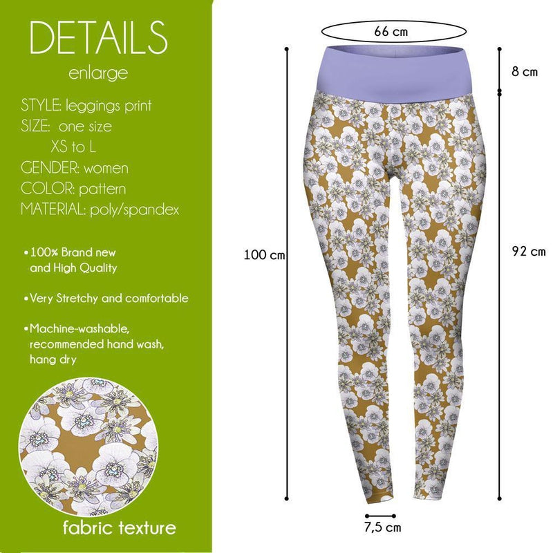 Pansies High Waisted Leggings-Wholesale Leggings UK- Wholesale Women's Clothing- Kukubird Creative Studio