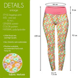 Yellow Daisies High Waisted Leggings-Wholesale Women's Leggings, Wholesale Plus Size , Wholesale Fashion Clothing