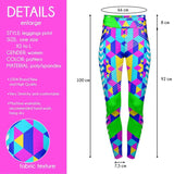 Geo Cubic High Waisted Leggings-Wholesale Women's Leggings, Wholesale Plus Size , Wholesale Fashion Clothing