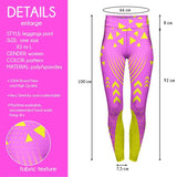 Pink Neon Sport High Waisted Leggings-Wholesale Leggings UK- Wholesale Women's Clothing- Kukubird Creative Studio