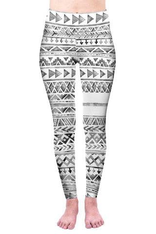 Watercolour Aztec High Waisted Leggings-Wholesale Women's Leggings, Wholesale Plus Size , Wholesale Fashion Clothing