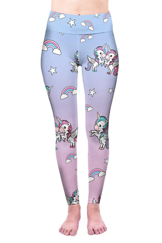 Unicorn Best Friends High Waisted Leggings-Wholesale Women's Leggings, Wholesale Plus Size , Wholesale Fashion Clothing