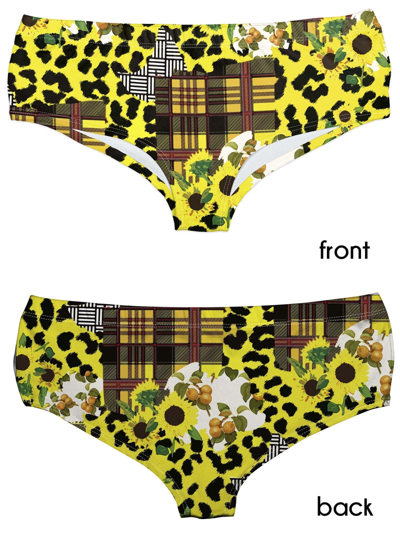 Sunflower Leopards Panties-Wholesale Leggings UK- Wholesale Women's Clothing- Kukubird Creative Studio