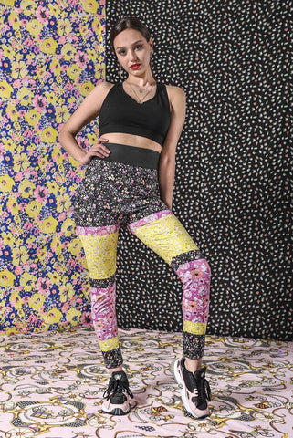 Ditsy Florals High Waisted Leggings-Wholesale Leggings UK- Wholesale Women's Clothing- Kukubird Creative Studio