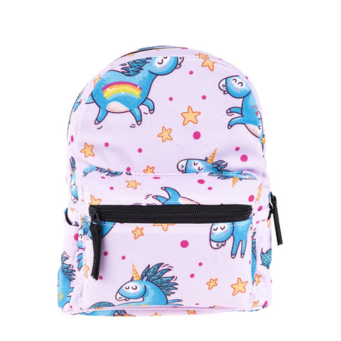 Blue Unicorn Mini Backpacks-Wholesale Women's Leggings, Wholesale Plus Size , Wholesale Fashion Clothing