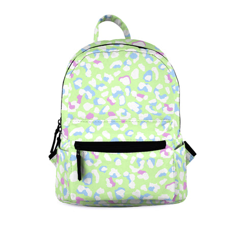 Pastel leopard green Mini Backpacks-Wholesale Women's Leggings, Wholesale Plus Size , Wholesale Fashion Clothing