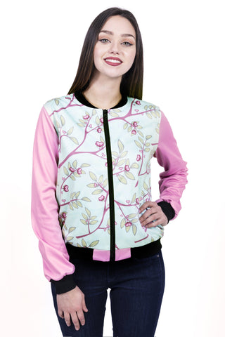 Hearts In Bloom Bomber Jacket-Wholesale Women's Leggings, Wholesale Plus Size , Wholesale Fashion Clothing