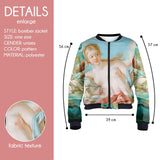 Venus on the Waves Bomber Jacket-Wholesale Women's Leggings, Wholesale Plus Size , Wholesale Fashion Clothing