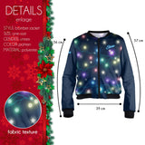 Christmas Lights Bomber Jacket-Wholesale Women's Leggings, Wholesale Plus Size , Wholesale Fashion Clothing