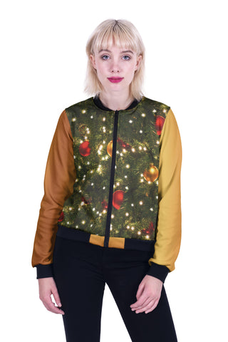 Christmas Tree Bomber Jacket-Wholesale Women's Leggings, Wholesale Plus Size , Wholesale Fashion Clothing