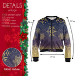 Golden Snow Flake Bomber Jacket-Wholesale Women's Leggings, Wholesale Plus Size , Wholesale Fashion Clothing