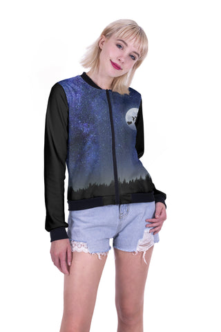 Over The Moon Bomber Jacket-Wholesale Women's Leggings, Wholesale Plus Size , Wholesale Fashion Clothing