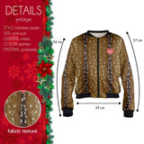Reindeer Love Bomber Jacket-Wholesale Women's Leggings, Wholesale Plus Size , Wholesale Fashion Clothing