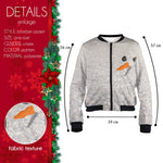 SnowMan Bomber Jacket-Wholesale Women's Leggings, Wholesale Plus Size , Wholesale Fashion Clothing