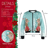 Snow Llama Bomber Jacket-Wholesale Leggings UK- Wholesale Women's Clothing- Kukubird Creative Studio