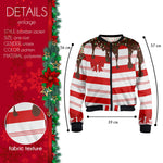 Sweet Candy Cane Bomber Jacket-Wholesale Women's Leggings, Wholesale Plus Size , Wholesale Fashion Clothing