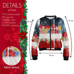 With Love Santa Bomber Jacket-Wholesale Women's Leggings, Wholesale Plus Size , Wholesale Fashion Clothing