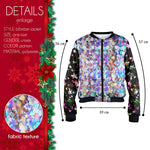 Glitter Bomber Jacket-Wholesale Women's Leggings, Wholesale Plus Size , Wholesale Fashion Clothing