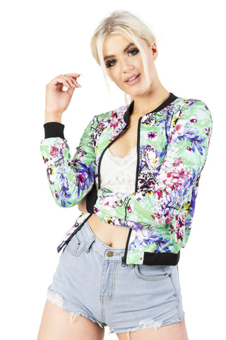 Butterfly Dream Bomber Jacket-Wholesale Women's Leggings, Wholesale Plus Size , Wholesale Fashion Clothing