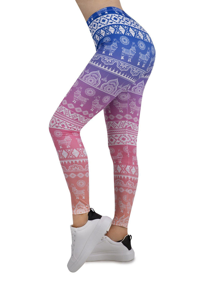 Ethnic Llama Regular Leggings-Wholesale Leggings UK- Wholesale Women's Clothing- Kukubird Creative Studio