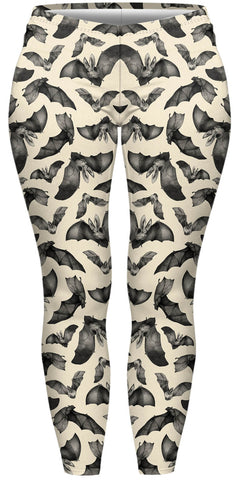 Bats Plus Leggings-Wholesale Women's Leggings, Wholesale Plus Size , Wholesale Fashion Clothing